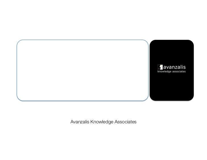 Guía para una rápidatransformación estratégica!     Avanzalis Knowledge Associates!