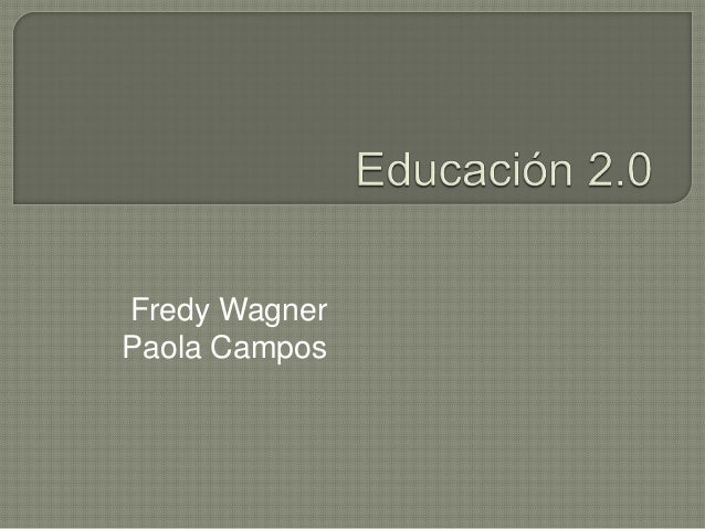 Fredy Wagner Paola Campos