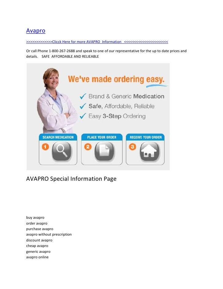 """HYPERLINK """" http://totaldrugmart.com/buy/Plavix.asp?prodid=0&drug=Plavix""""  Avapro<br />>>>>>>>>>>>>>Clicck Here for more ..."""