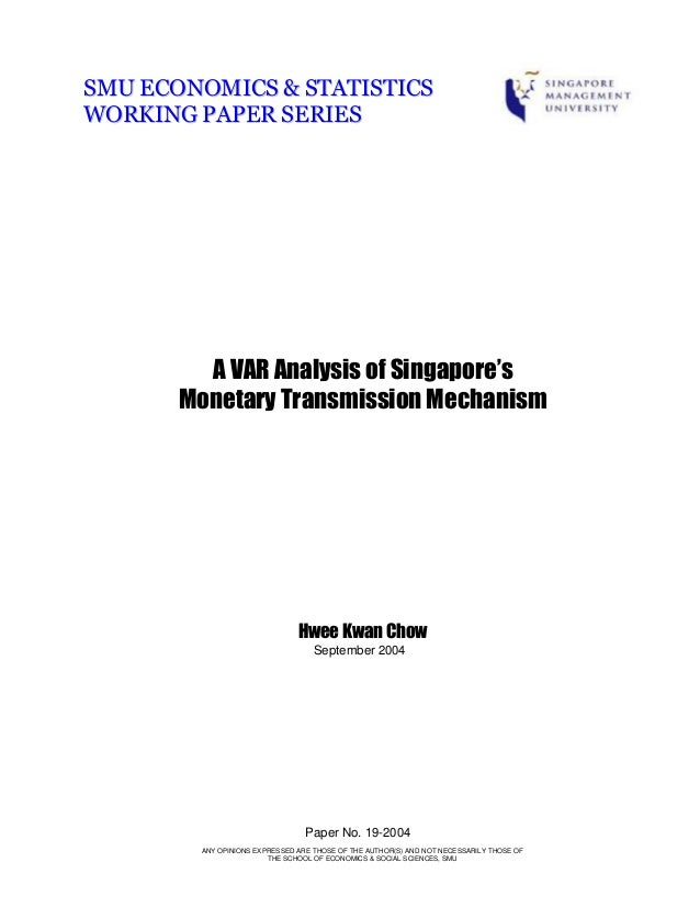 critically analyze the transmission mechanisms that Peersman, gert & smets, frank, 2001 the monetary transmission mechanism in the euro area: more evidence from var analysis, working paper series 0091, european central bank.