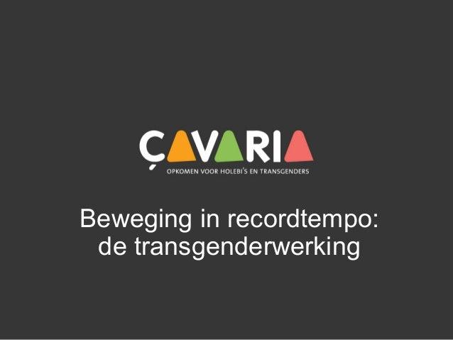 Beweging in recordtempo: de transgenderwerking