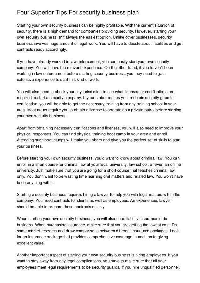 security company proposal letter
