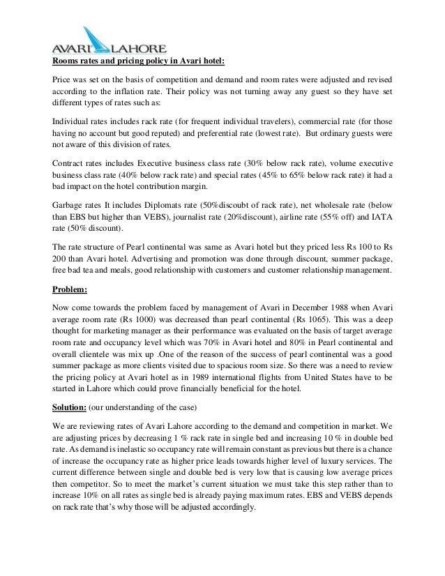 avari ramada lahore case View avari_group 4pptx from marketing magement 11 at great lakes institute of management avari ramada hotel: pricing hotel rooms group 4: vijayta dhingra dm18258 tarannum soni dm18261.
