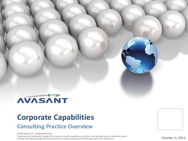 © 2014 Avasant LLC. All Rights Reserved. Proprietary and Confidential. No part of this document may be reproduced in any f...