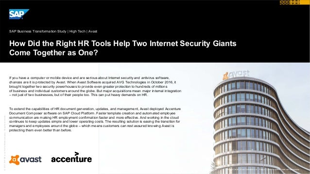 ©2017SAPSEoranSAPaffiliatecompany.Allrightsreserved. How Did the Right HR Tools Help Two Internet Security Giants Come Tog...
