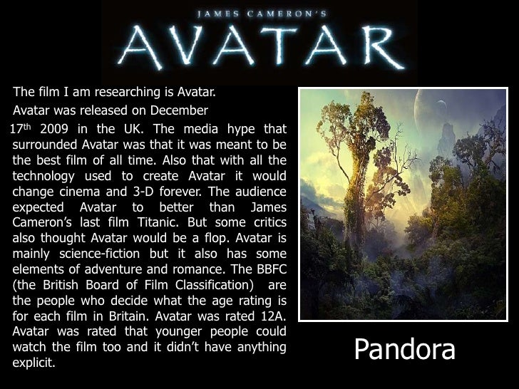 avatar powerpoint 2 the film i am researching is avatar