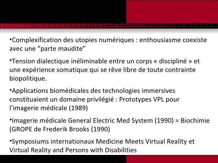 """<ul><li>Complexification des utopies numériques : enthousiasme coexiste avec une """"parte maudite"""" </li></ul><ul><li>Tension..."""
