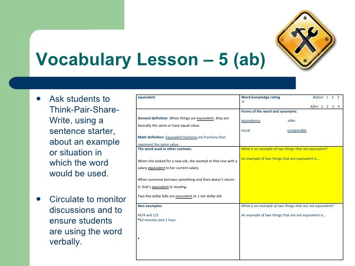 what is vocabulary instruction