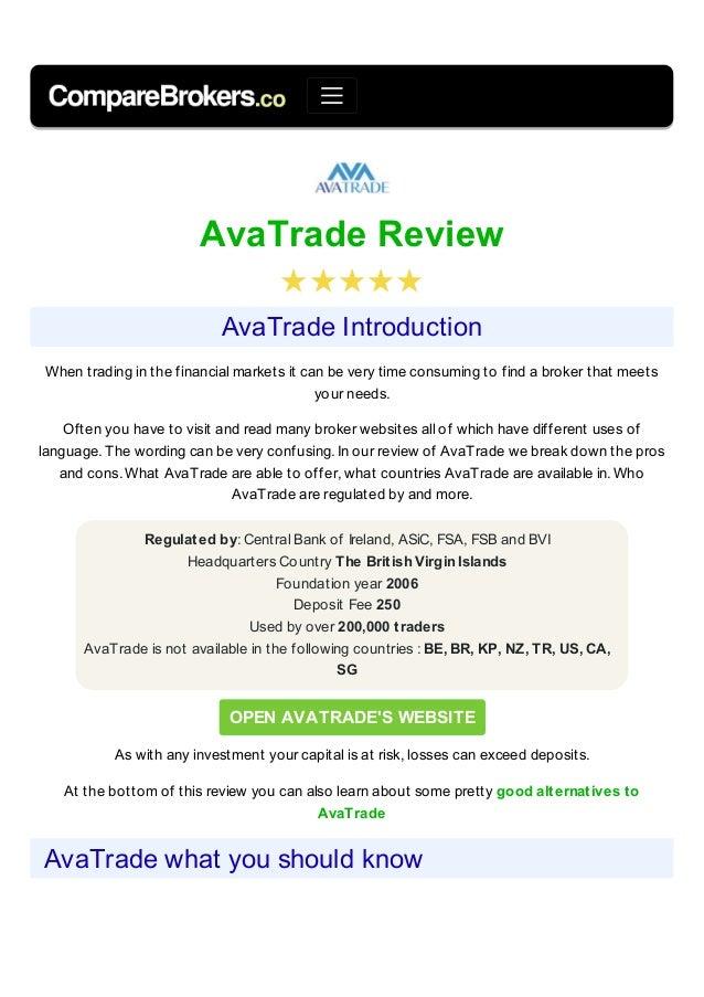 recensione broker avatrade guida al trading online