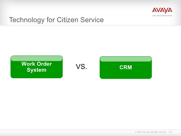 Technology for Citizen Service VS. Work Order System CRM