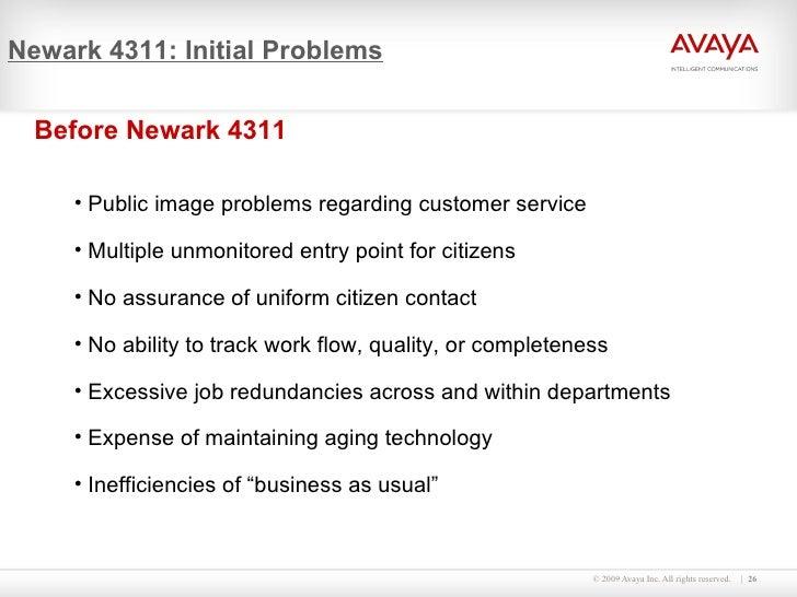 Newark 4311: Initial Problems <ul><li>Before Newark 4311 </li></ul><ul><ul><li>Public image problems regarding customer se...