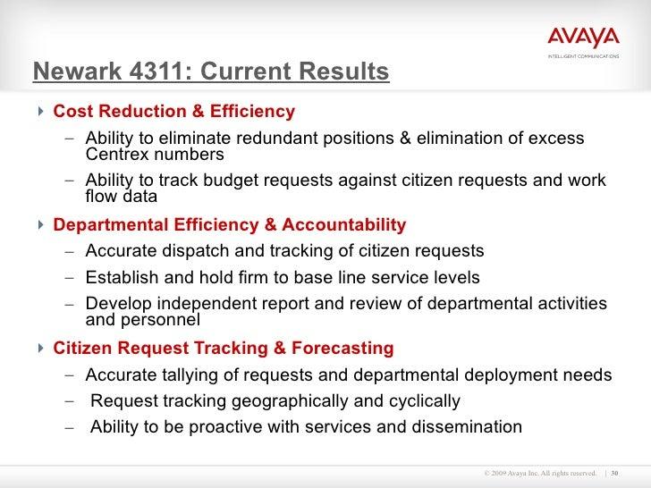 Newark 4311: Current Results <ul><li>Cost Reduction & Efficiency </li></ul><ul><ul><li>Ability to eliminate redundant posi...