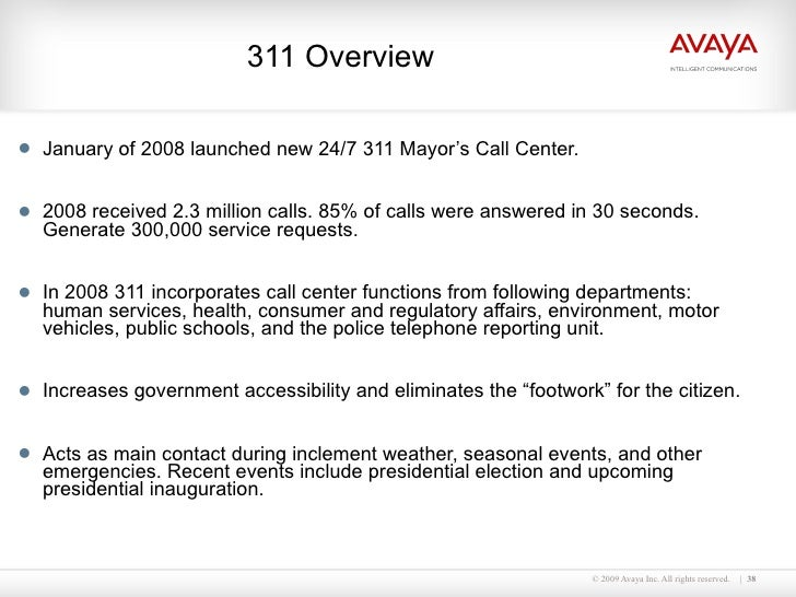 Avaya Delivering Improved Citizen Service