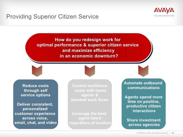 Providing Superior Citizen Service How do you redesign work for  optimal performance & superior citizen service  and maxim...