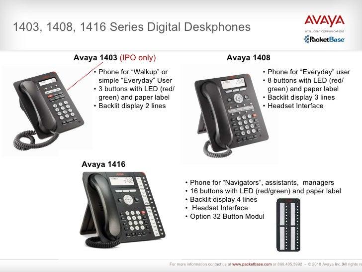 Avaya Model 1416 Phone with Digital Display