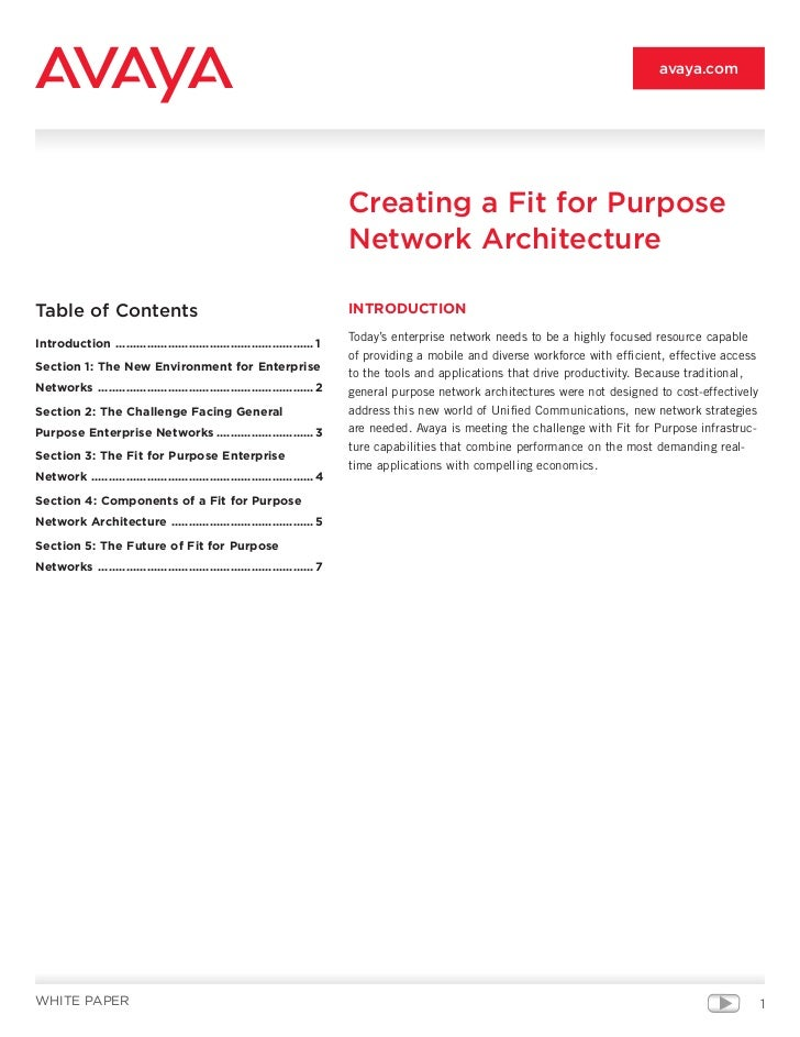 avaya.com                                                                             Creating a Fit for Purpose          ...