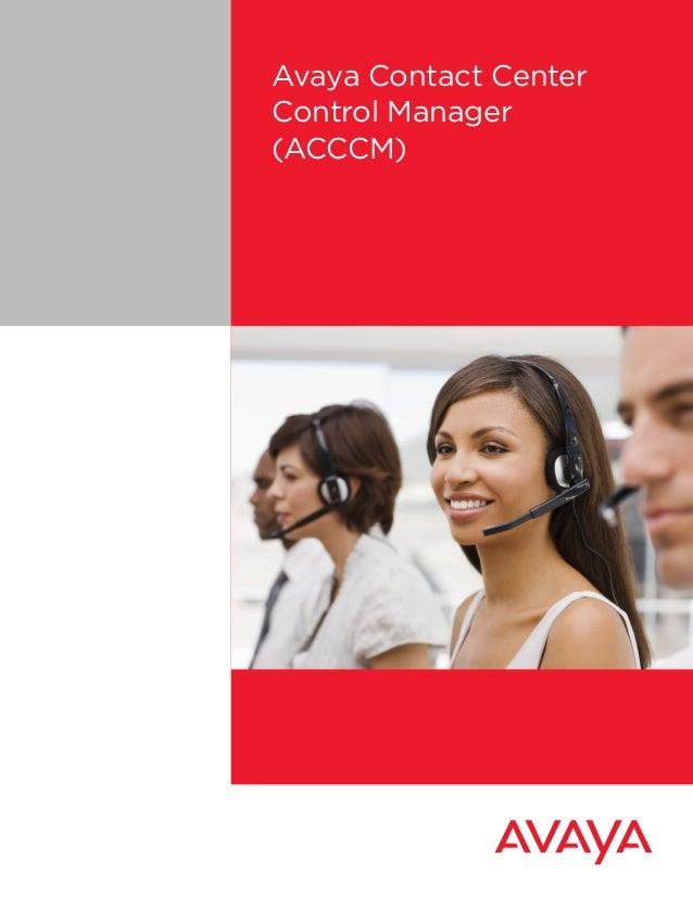Avaya Contact CenterControl Manager(ACCCM)