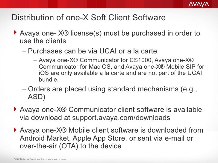 Avaya one-X Mobile by VOXNS