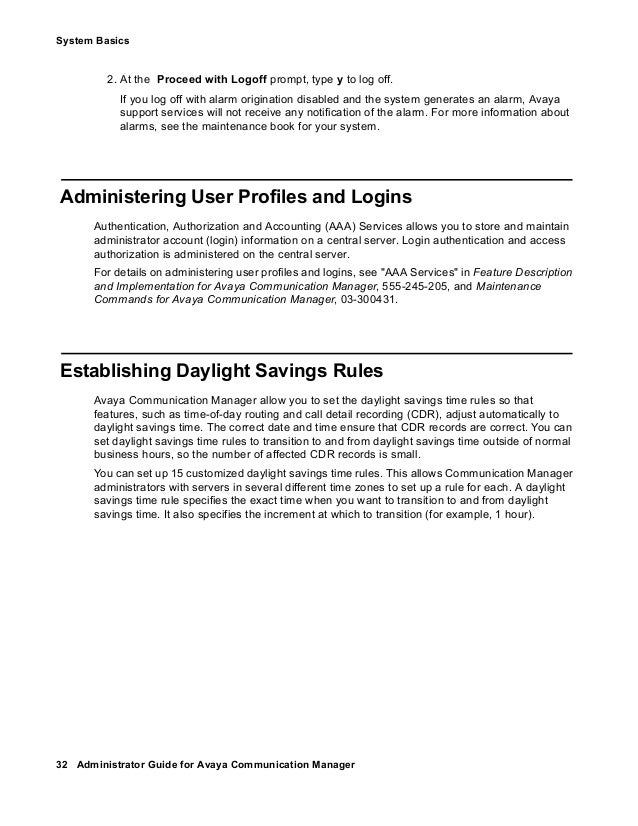 Avaya site administrator