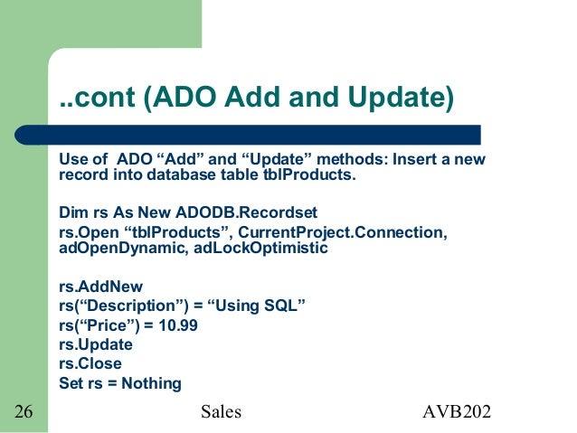 AVB202 Intermediate Microsoft Access VBA