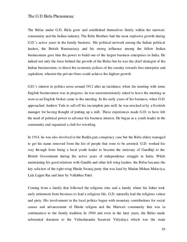 The G D Birla Phenomena: The Birlas under G.D. Birla grew and established themselves firmly within the marwari community a...