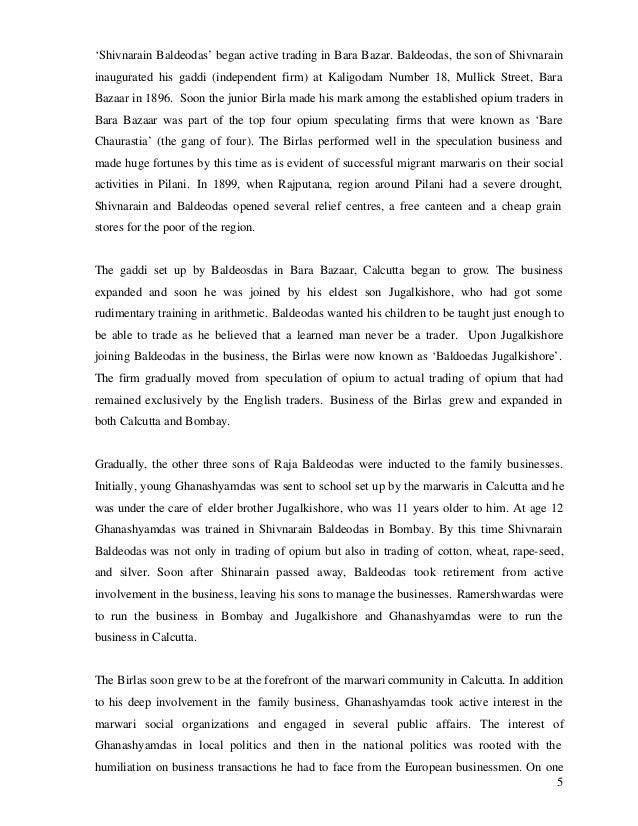 'Shivnarain Baldeodas' began active trading in Bara Bazar. Baldeodas, the son of Shivnarain inaugurated his gaddi (indepen...