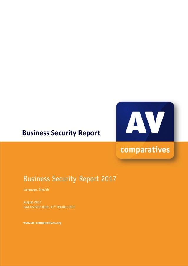 av comparatives report