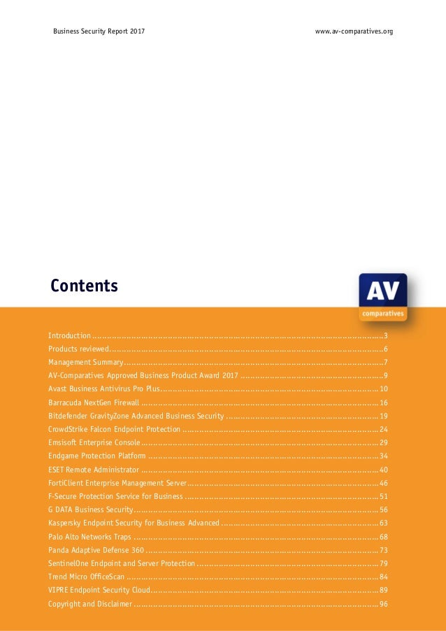 AV-Comparatives' 2017 business software review