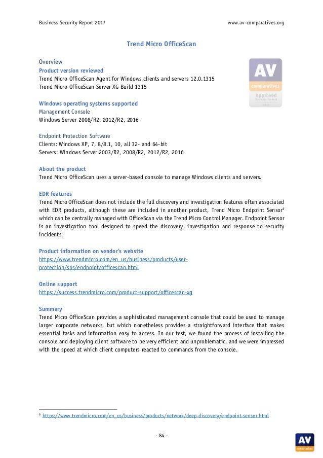 AV-Comparatives' 2017 business software review