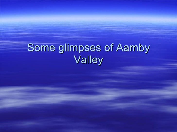 Some glimpses of Aamby Valley