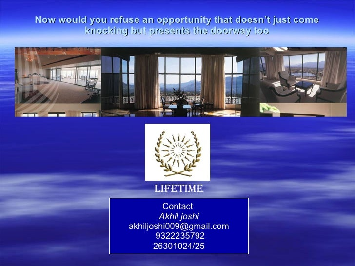 Now would you refuse an opportunity that doesn't just come knocking but presents the doorway too Contact  Akhil joshi [ema...