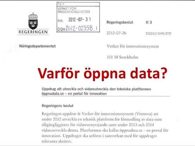 Varför öppna data?