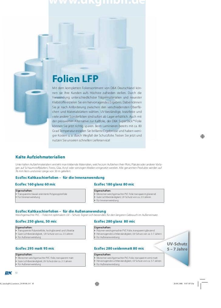 www.dkgmbh.de                                    Folien LFP                                    Mit dem kompletten Folienso...