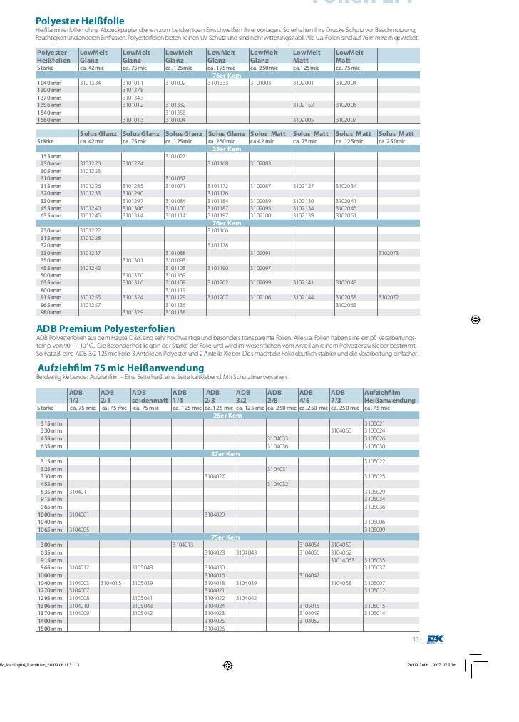 Folien LFPPolyester HeißfolieHeißlaminierfolien ohne Abdeckpapier dienen zum beidseitigen Einschweißen Ihrer Vorlagen. So ...