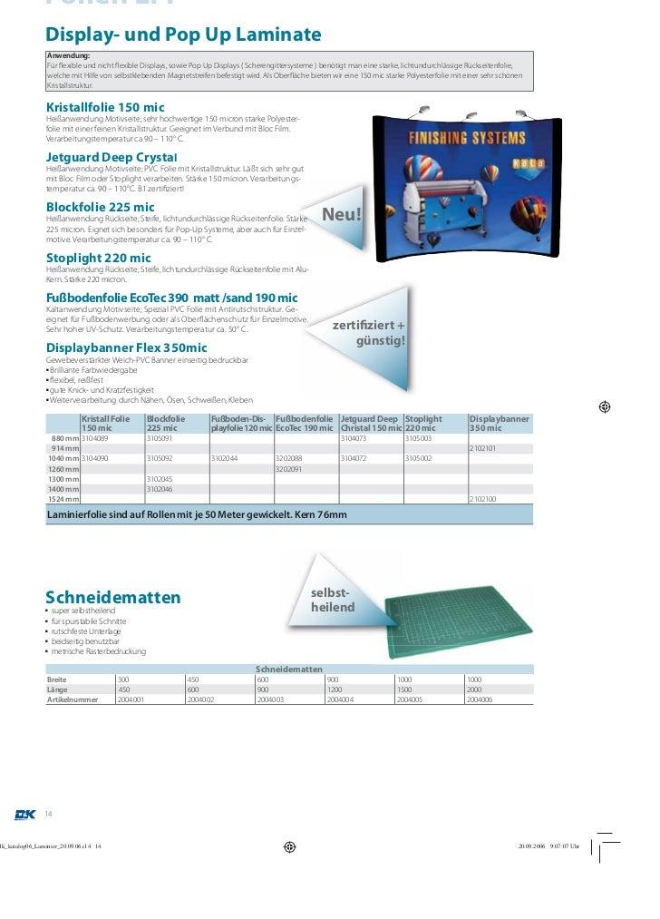 Folien LFPDisplay- und Pop Up LaminateAnwendung:Für flexible und nicht flexible Displays, sowie Pop Up Displays ( Schereng...