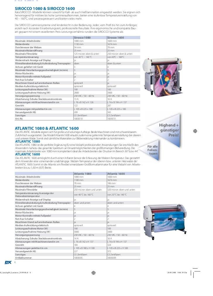 KALASIROCCO 1080 & SIROCCO 1600Kala SIROCCO -Modelle können sowohl für Kalt- als auch Heißlamination eingesetzt werden. Si...