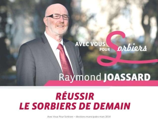 Avec Vous Pour Sorbiers – élections municipales mars 2014