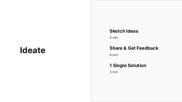Sketch at least 8 radical ways to meet user's needs. (write your problem statement 1st) Quantity not quality, more is bett...
