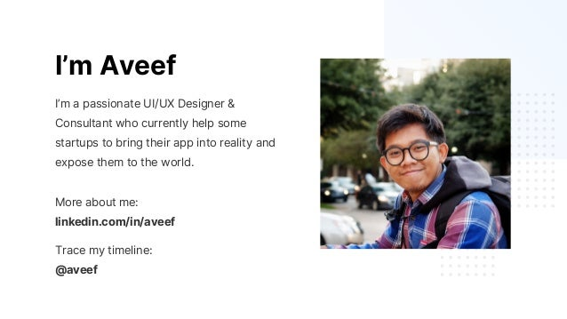 I'm Aveef I'm a passionate UI/UX Designer & Consultant who currently help some startups to bring their app into reality an...