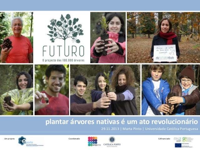plantar árvores nativas é um ato revolucionário 29.11.2013 | Marta Pinto | Universidade Católica Portuguesa Um projeto  Co...