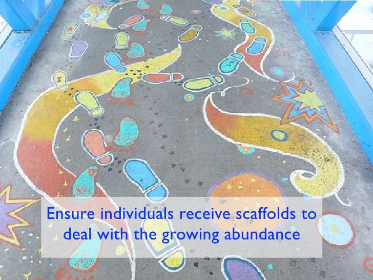 Ensure individuals receive scaffolds to  deal with the growing abundance
