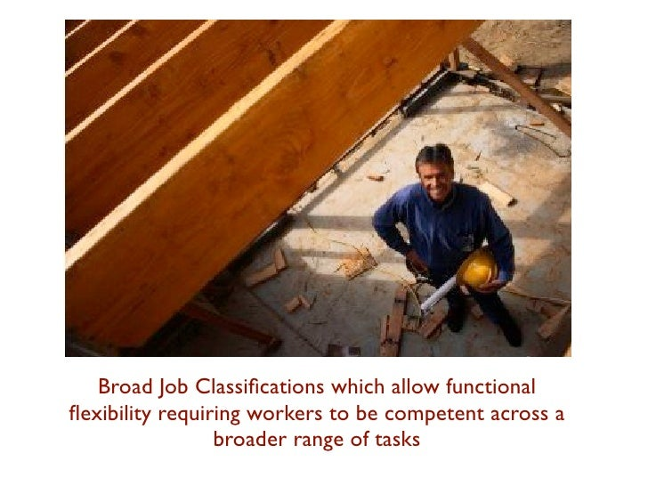 Broad Job Classifications which allow functionalflexibility requiring workers to be competent across a                 broad...