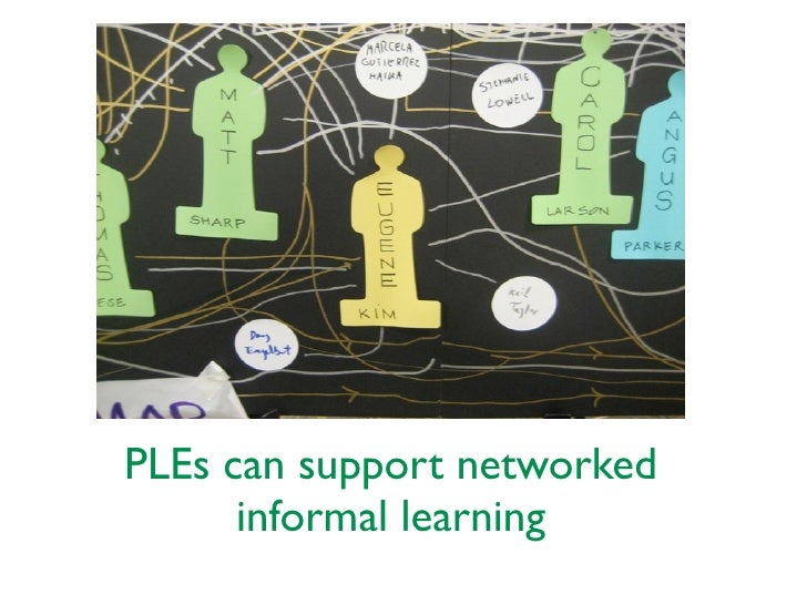 PLEs can support networked      informal learning