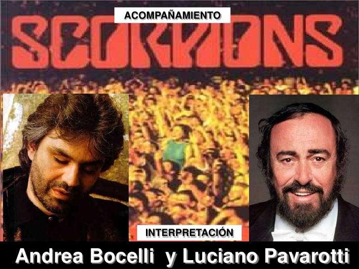 ACOMPAÑAMIENTO<br />INTERPRETACIÓN<br />Andrea Bocelli  y Luciano Pavarotti<br />