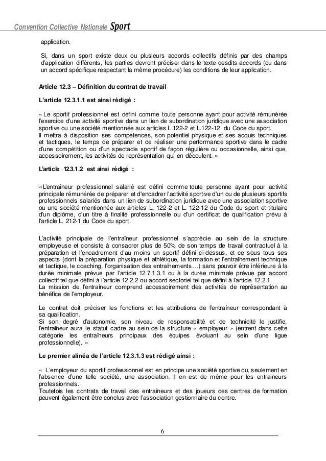 IDCC 2511 Avenant 112 cdd specifique