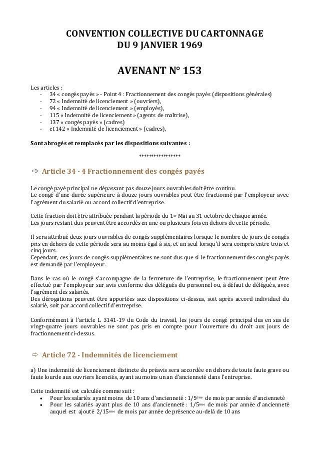 Idcc 489 Avenant N 153 Du 29 Mars 2016