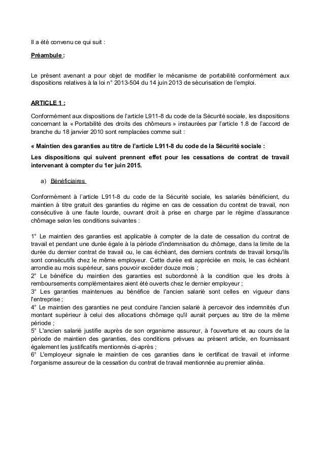 Idcc 573 Portabilite Prevoyance Dans Le Commerce De Gros
