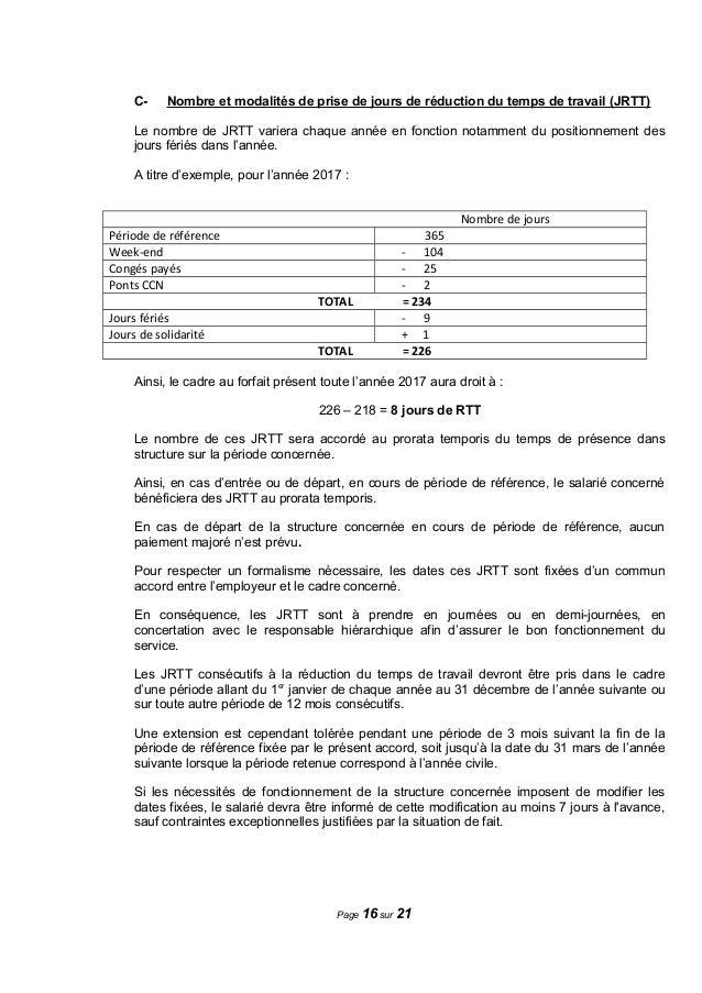Idcc 2697 Avenant Ccn Duree Du Travail Le 30 Juin 2016
