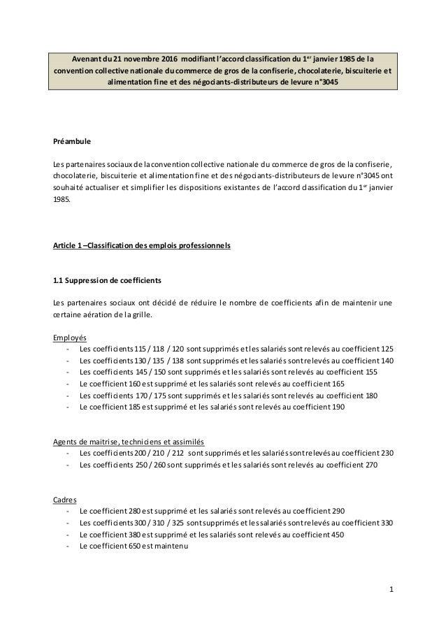 R duction du nombre de coefficients de la grille de - Grille de classification des salaires ...