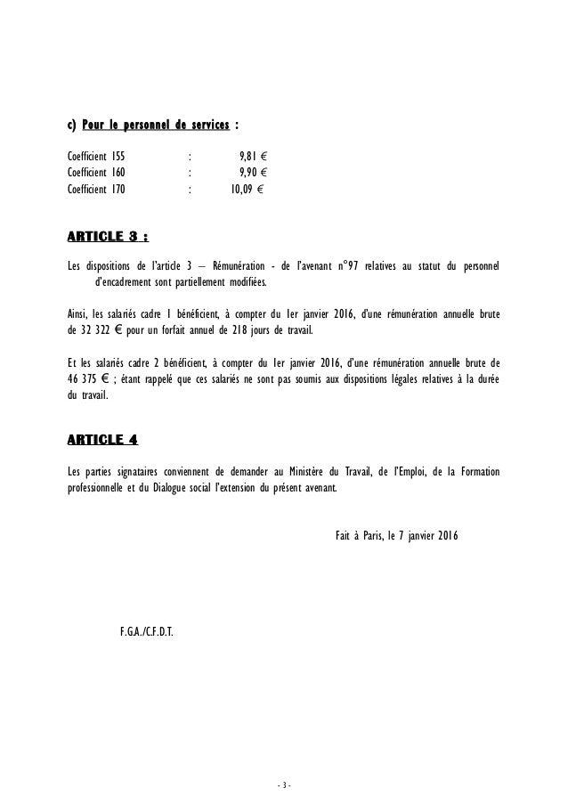 Idcc 843 Avenant N 113 Salaire Horaire Minimum